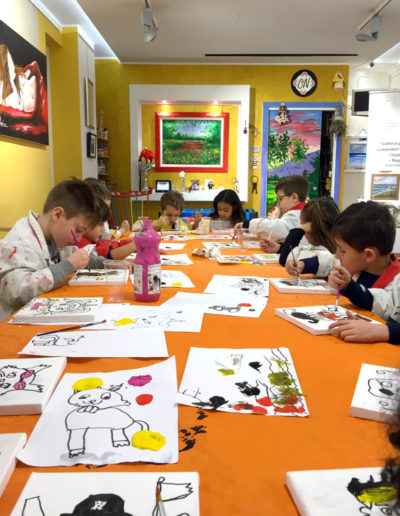 laboratorio di pittura per bambini Pescara Cinzia Napoleone