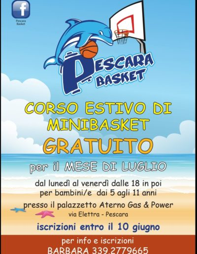 Pescara Basket corsi estivi