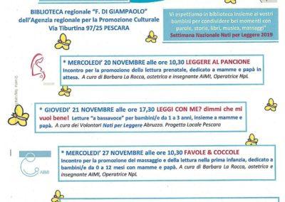 eventi bimbi e ragazzi alla biblioteca di Giampaolo Pescara